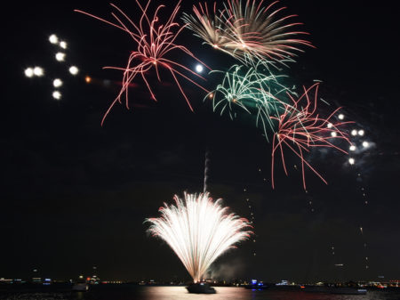 Fireworks On A Lake Water, Amazing Fireworks, Fireworks 2019, Fi